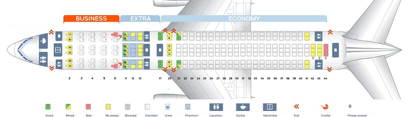 American Airlines seat map