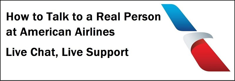 American Airlines Live Person